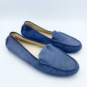 Cole Haan Grand Blue Suede Moccasin Slip On's 7